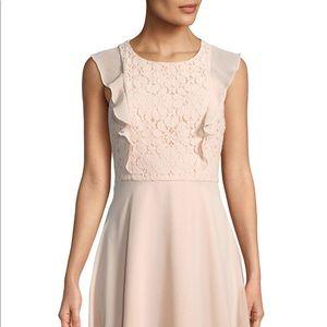 Nanette Lepore Lace & Chiffon Fit and Flare Dress